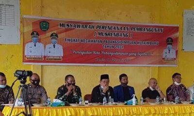 Wakil Walikota Psp Buka Musrenbang Padangsidimpuan Hutaimbaru