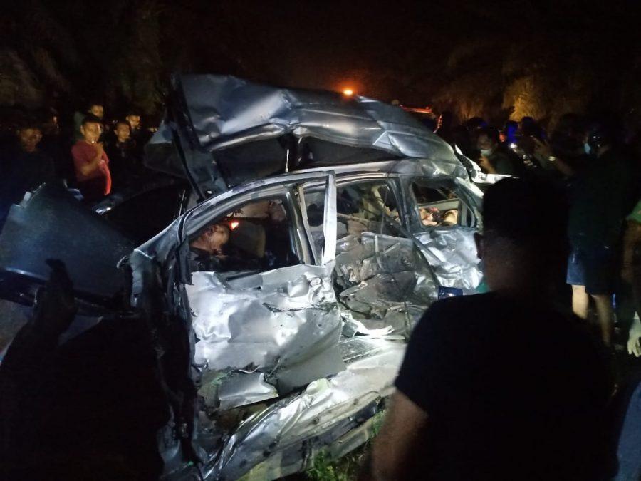 Kecelakaan di Jalan Umum Tebing - Siantar 9 Orang Tewas