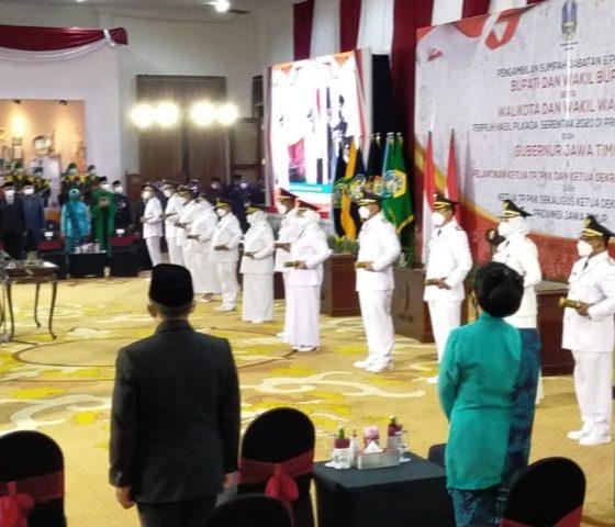 Gubernur Jawa Timur Lantik Bupati dan Wabup Jember