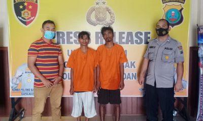 Polsek Patumbak Ringkus Dua Orang Pelaku Pencuri Besi Bekas