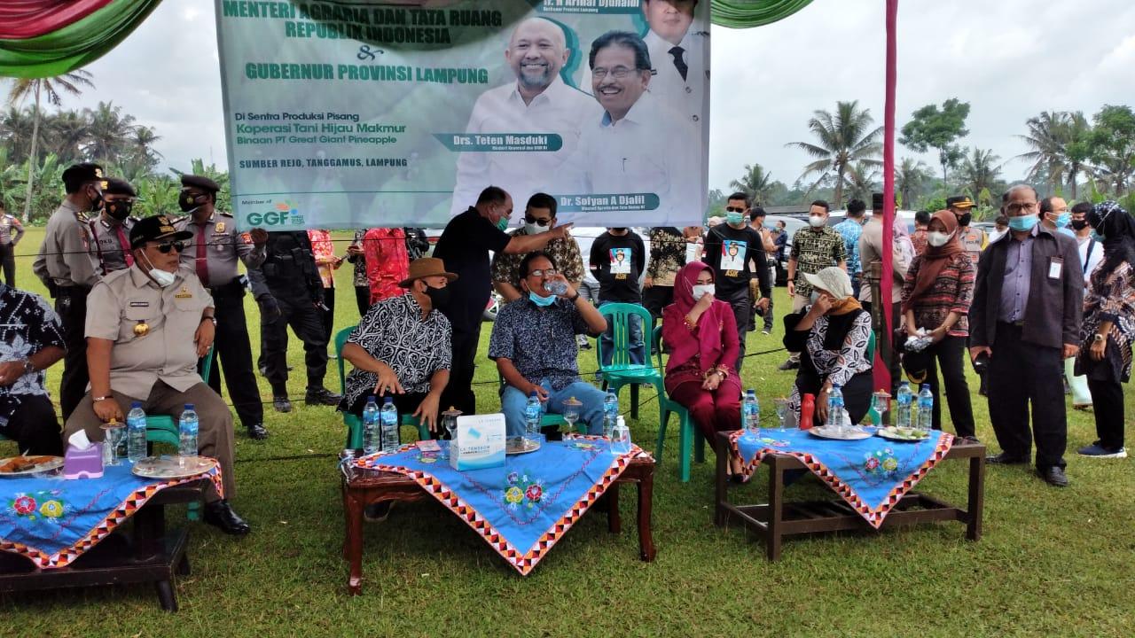 Kapolres Tanggamus Pimpin Pengamanan Kunjungan Dua Menteri di Sumberejo