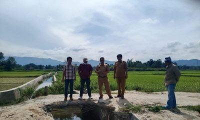 Jembatan Penghubung Tiga Desa di Laguboti Putus Warga Cemas