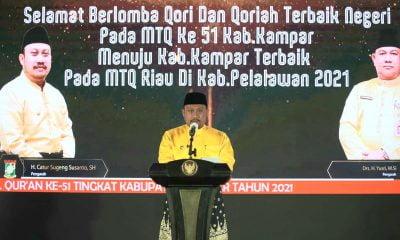 Bupati Kampar Resmi Buka MTQ ke-51 Tingkat Kabupaten Ditayangkan Via Live Streaming