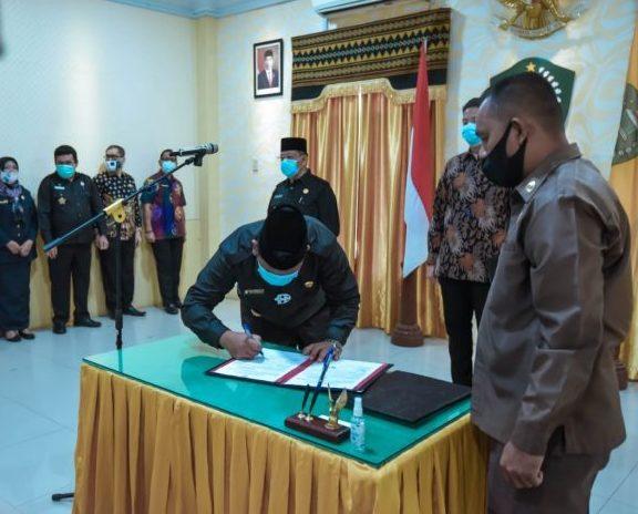 Walikota P.Sidimpuan Bersama OPD Lakukan Penandatanganan Kinerja