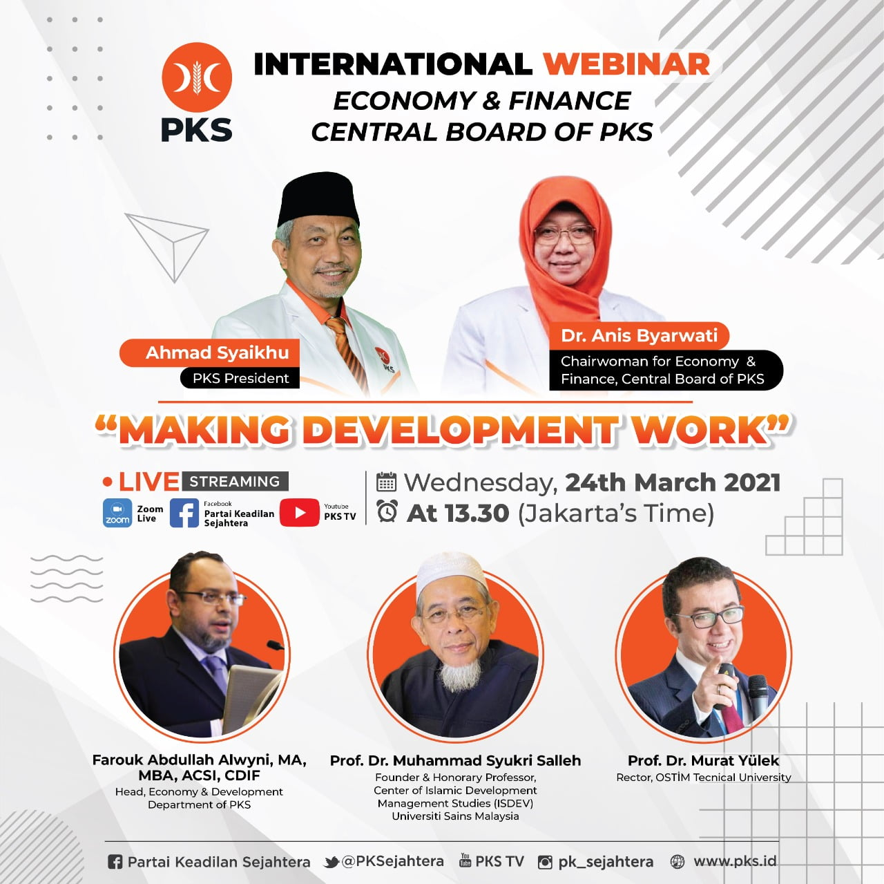 "Begini Catatan Webinar Internasional DPP PKS ""Making Development Work"""