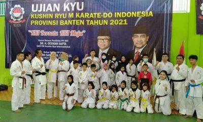Perguruan KKI Banten Gelar Kenaikan Sabuk