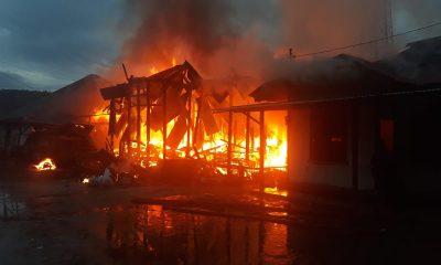 Dalam Satu Malam Lima Unit Rumah Hangus dilalap Sijago Merah di Taput