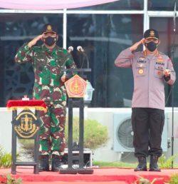 Panglima TNI dan Kapolri Hadiri Pembukaan Latsitarda Nusantara di Lantamal 1 Belawan