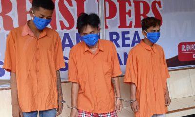 Polsek Medan Area Tangkap Tiga Orang Pelaku Tindak Pidana Pencurian