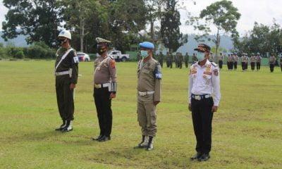Polres Taput Laksanakan Apel Gelar Pasukan Ops Ketupat Toba
