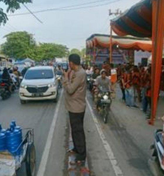 Kapolsek Medan Area Berikan Teguran Kepada Salah Satu Ormas Akibatkan Kemacetan