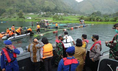 Kapolda Sumut Tinjau Penertiban Keramba Jaring Apung di Kawasan Danau Toba