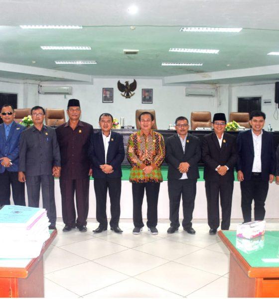 DPRD Nias Gelar Rapat Paripurna Tentang Penyampaian Pengambilan Keputusan LKPJ Bupati Nias TA 2020