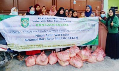 Fakultas Pertanian UISU Adakan Bhakti Sosial Bantu Warga Kurang Mampu
