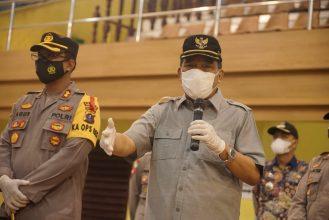 Kapolres Bersama Walikota Tebing Tinggi Tinjau Pelaksanaan Vaksinasi Massal Covid Untuk Lansia