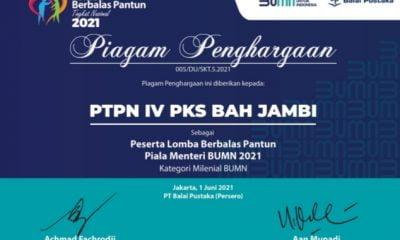 PKS Bah Jambi Mewakili PTPN IV Ikut Perlombaan Berbalas Pantun 2021