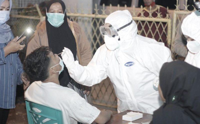 Warga Tidak Pakai Masker, GTPP Covid-19 Psp Lakukan Test Swab Antigen