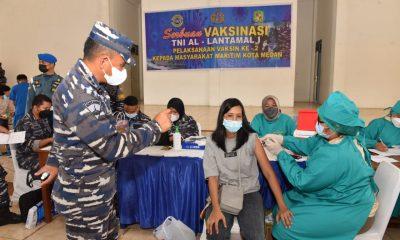 TNI AL Lantamal I Belawan Kembali Gelar Vaksinasi Massal