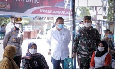 Walikota P. Sidimpuan Tinjau Vaksinasi Massal Kedua