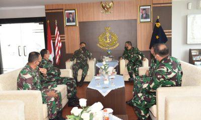 TNI AL Lantamal I Belawan Terima Kunker Kadiskomlekal dan Kapuskon Baranahan