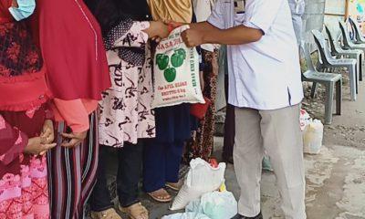 Pensiunan PTPN II Kebun TGP Terima Bantuan Sembako