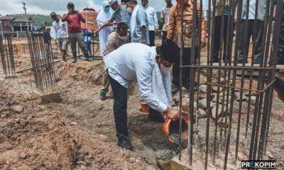 Walikota Sidimpuan Letakkan Batu Pertama Pembangunan Masjid Musafir Al-Ikhlas