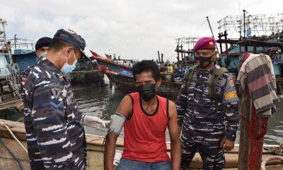 Nelayan Gabion Belawan Tunda Melaut Demi Vaksin Dosis Kedua