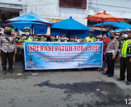 Polsek Medan Area Gelar Operasi Patuh Toba 2021