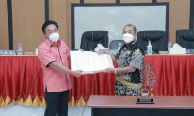 Walkot Gunungsitoli Bersama Ketua DPRD Teken Kesepakatan KUA-PPAS P-APBD TA 2021