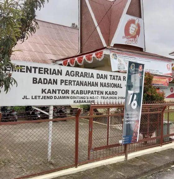 Kakan BPN Tanah Karo Akui HGU No. 01 Milik PT Bibit Unggul Karobiotek