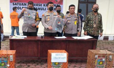 Polsek Siborong-borong Berhasil Amankan Judi Jackpot dan Lima Orang Pemain